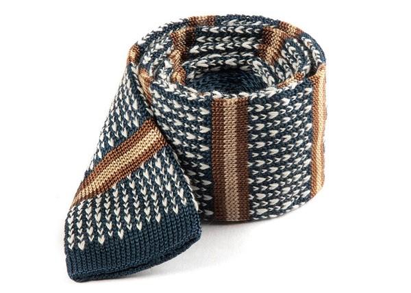 Journey Stripe Deep Slate Blue Tie