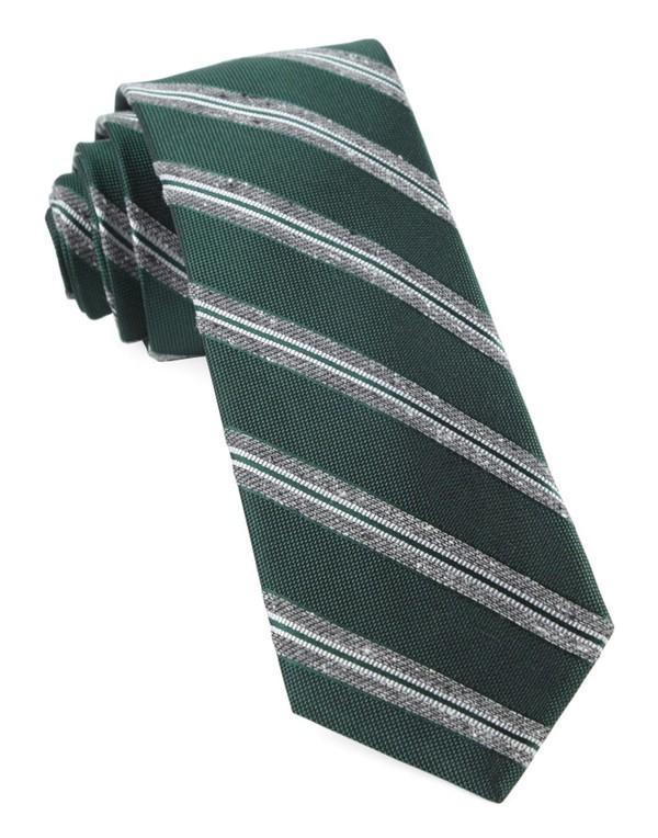 Edison Stripe Hunter Green Tie