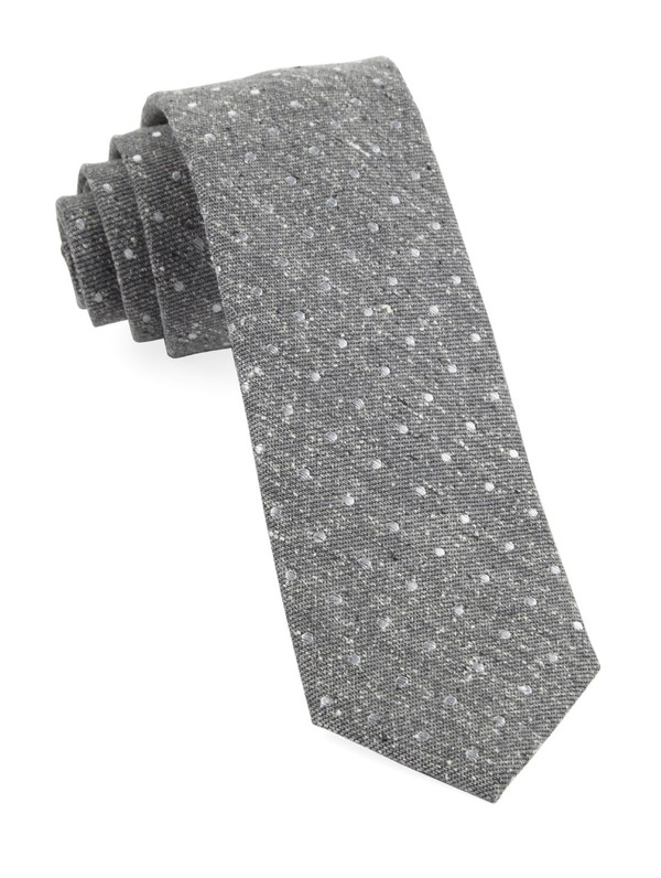 Knotted Dots Grey Tie