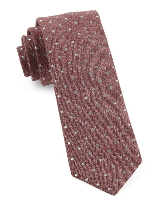 Knotted Dots Raspberry Tie
