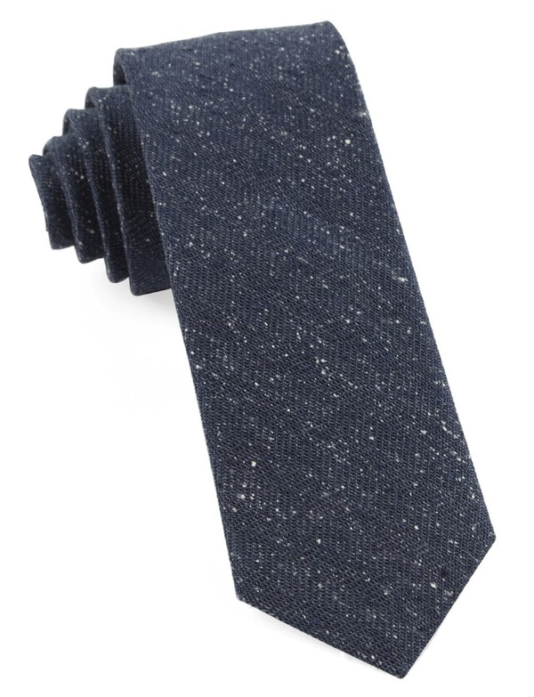 Threaded Zig-Zag Navy Tie