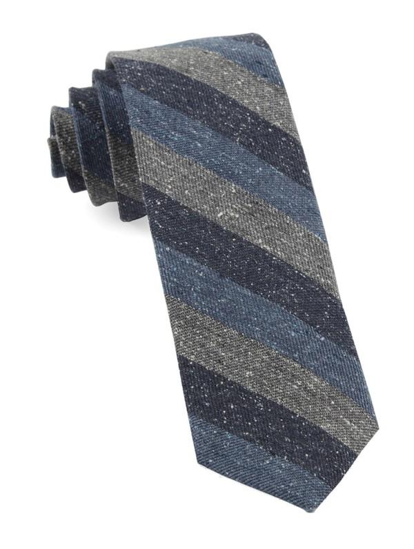 Varios Stripe Serene Blue Tie