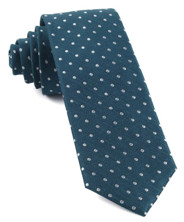Dotted Dots Teal Tie