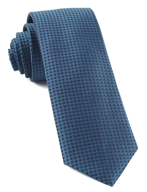 Check Mates Teal Tie