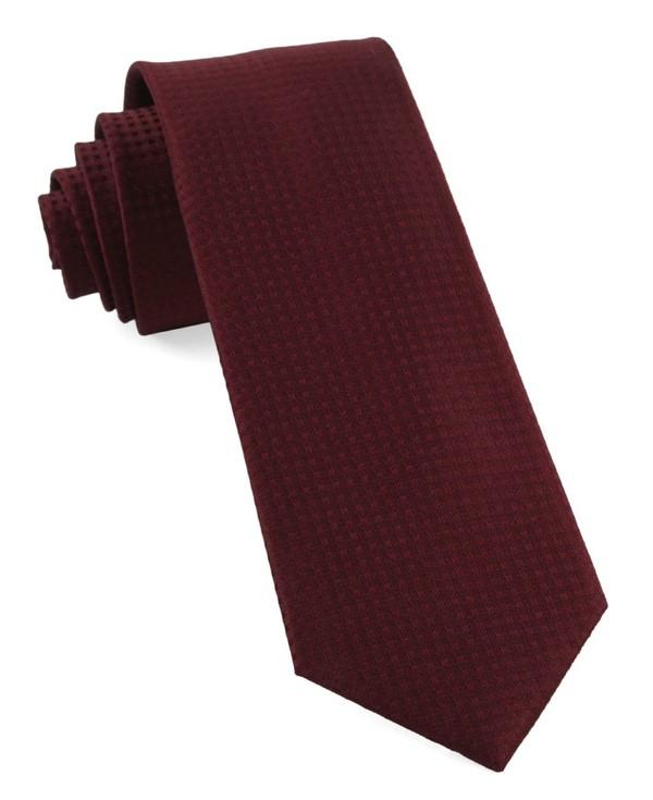 Check Mates Burgundy Tie