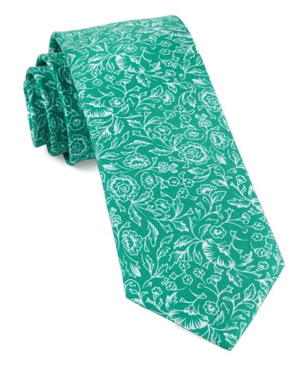 Bracken Blossom Kelly Green Tie