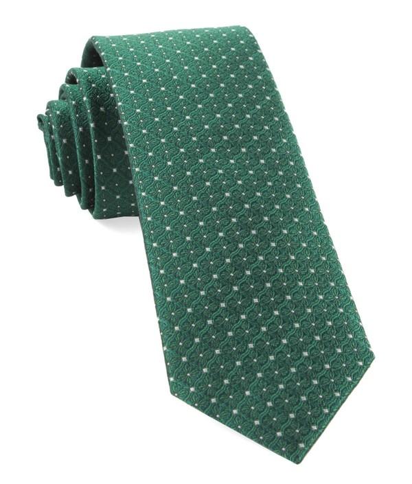 Medallion Lane Emerald Green Tie