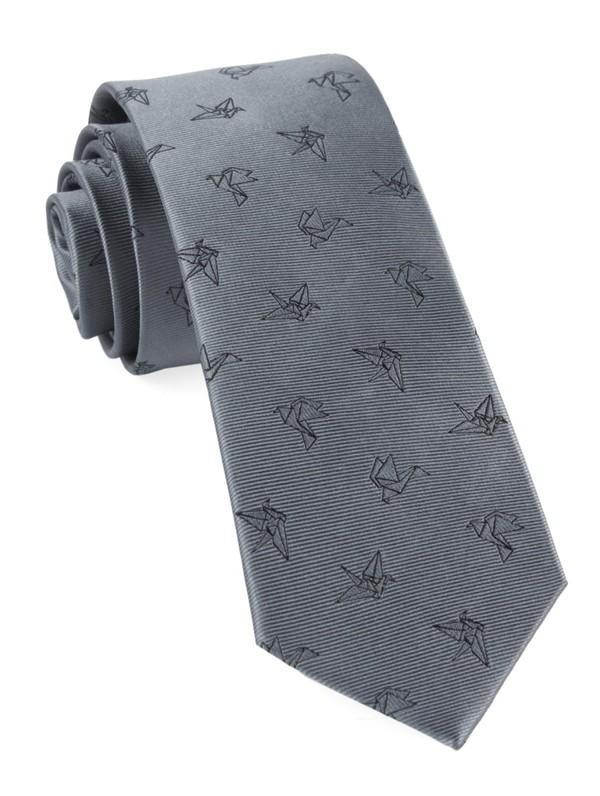 Origami Grey Tie