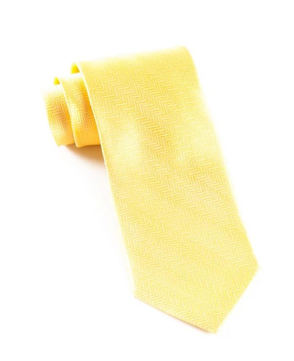 Herringbone Yellow Gold Tie