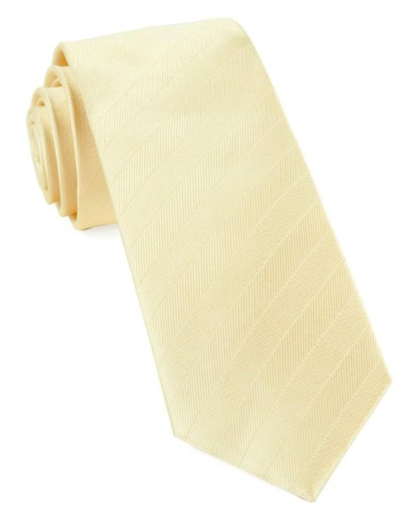 Herringbone Vow Butter Tie