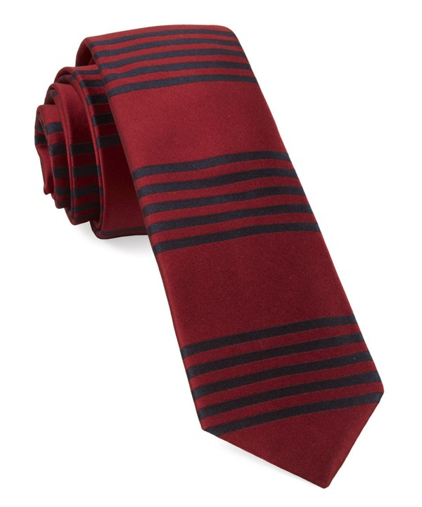 Turf Stripes Red Tie