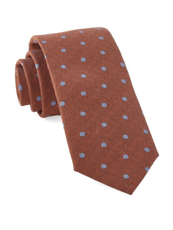Dotted Hitch Orange Tie