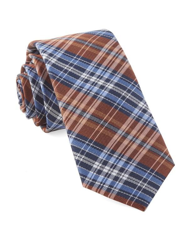Motley Plaid Orange Tie