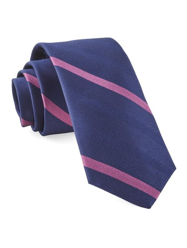 Goal Line Stripe Navy Tie