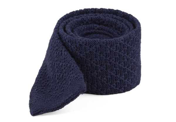 Field Solid Knit Navy Tie