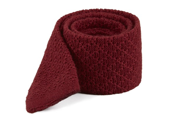 Field Solid Knit Red Tie