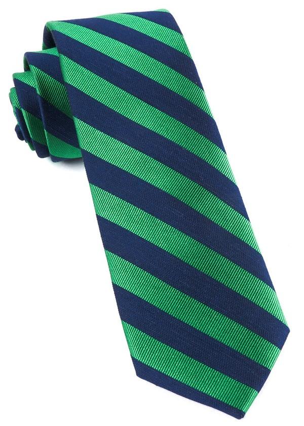 Lumber Stripe Kelly Green Tie