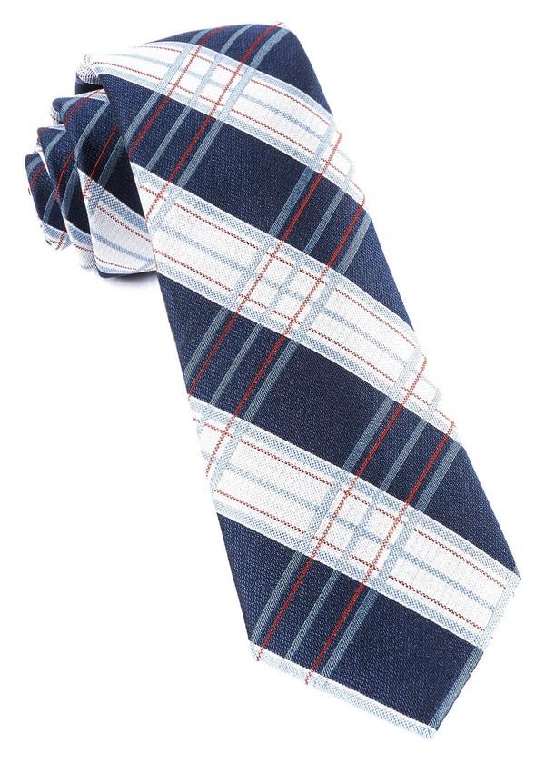 Noonday Plaid Navy Tie