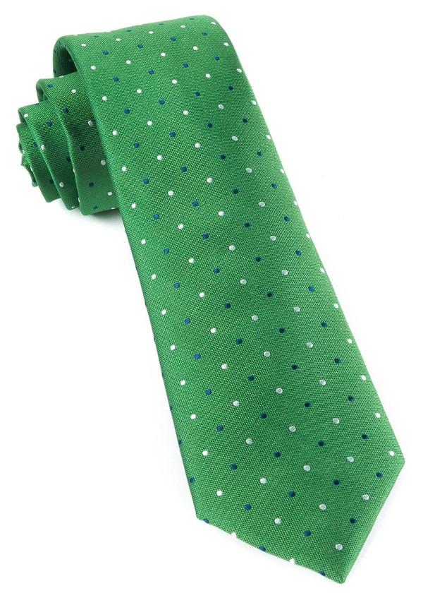 Jpl Dots Clover Green Tie