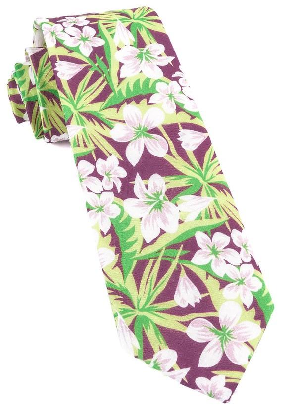 Tropic Of Linen Wine Tie