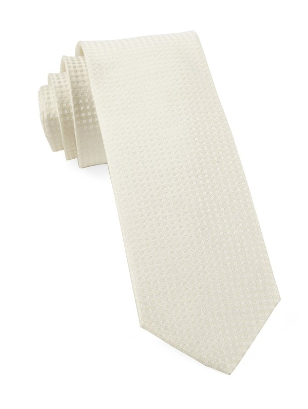 Be Married Checks Ivory Tie