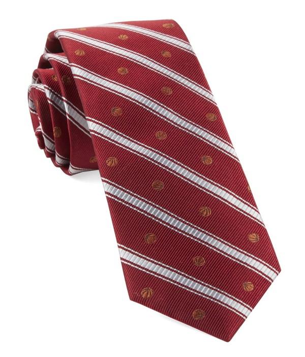 Basketball Stripe Red Tie