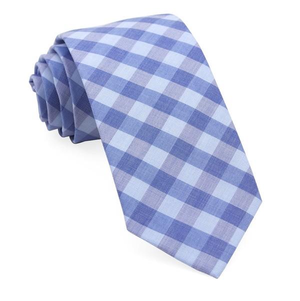 Old City Checks Light Blue Tie