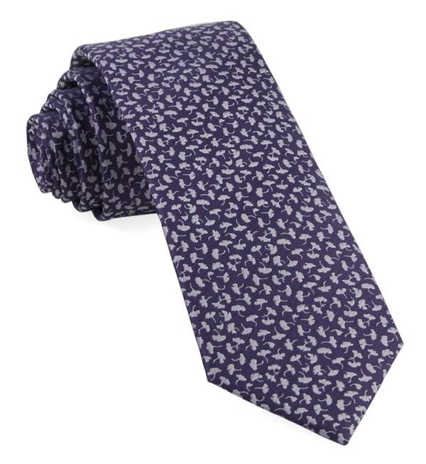 True Floral Purple Tie