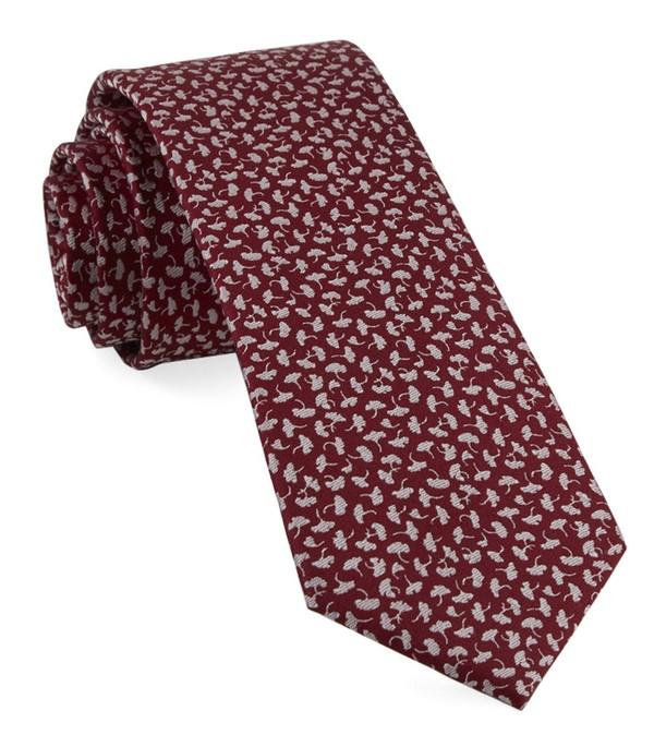True Floral Red Tie