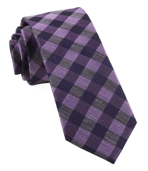 Hale Checks Lavender Tie