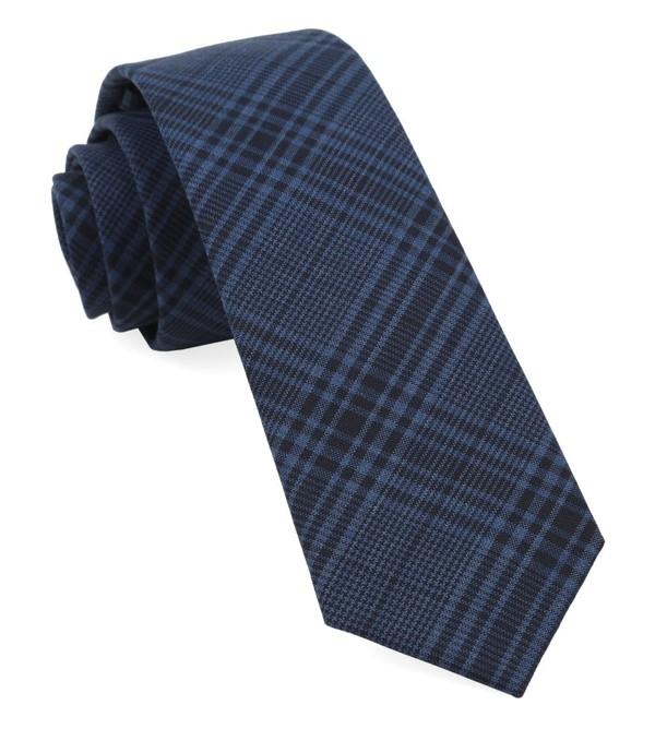 Blue Sole Plaid Navy Tie