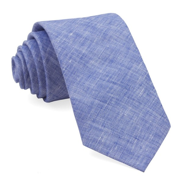 South End Solid Blue Tie