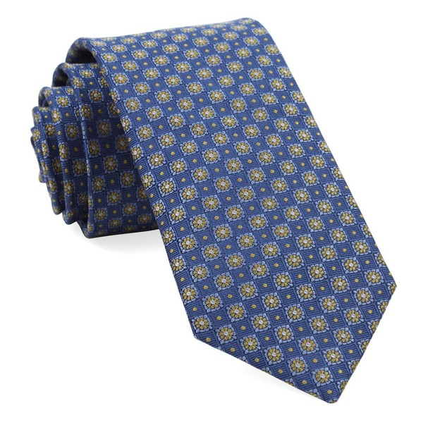 Homme Medallions Blue Tie