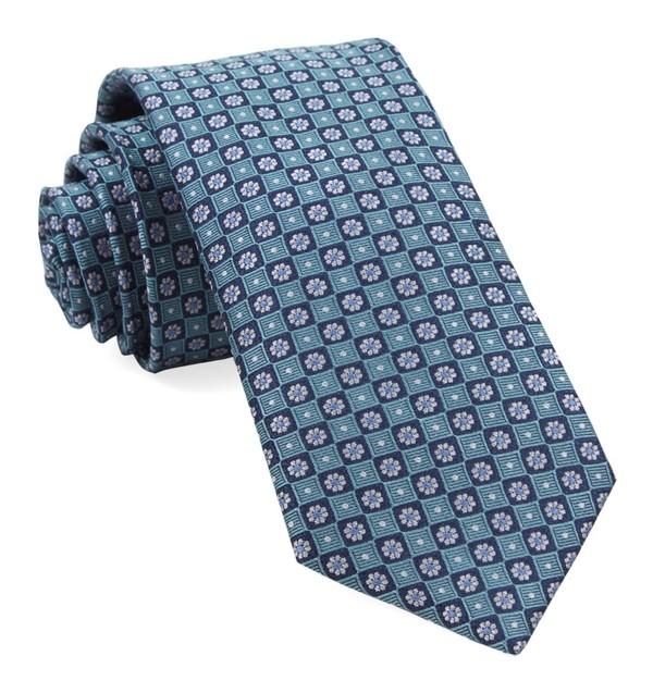 Homme Medallions Aqua Tie