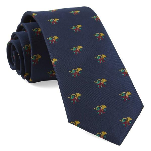 Christmas Carols Navy Tie