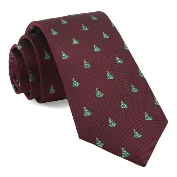 O Christmas Tree Burgundy Tie