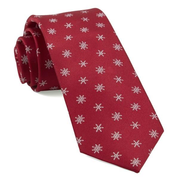 Snowflake Red Tie