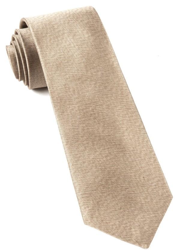 Melange Twist Solid Champagne Tie