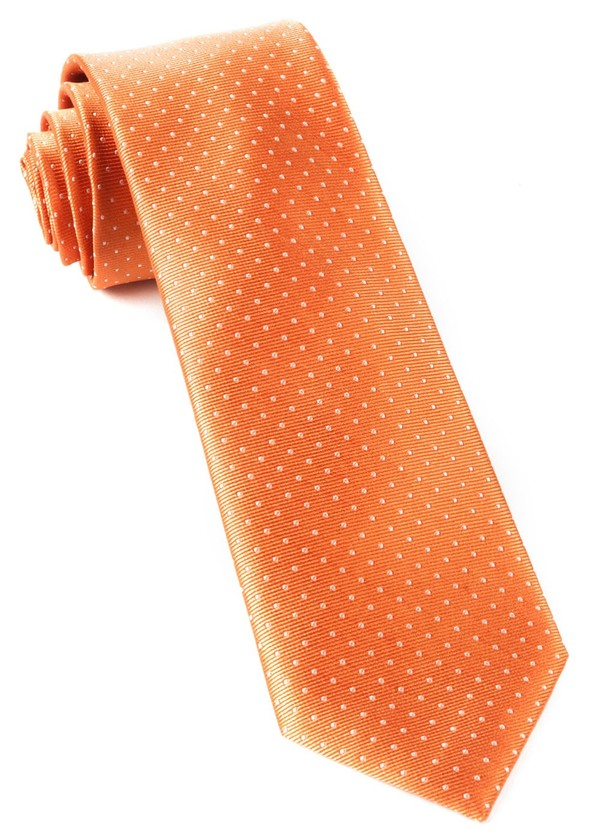 Mini Dots Tangerine Tie