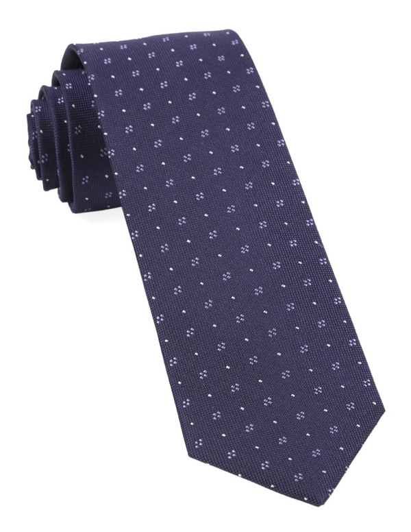 Geo Key Eggplant Tie