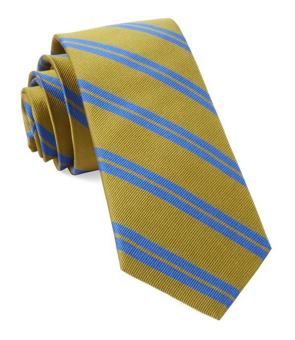 Center Field Stripe Mustard Tie