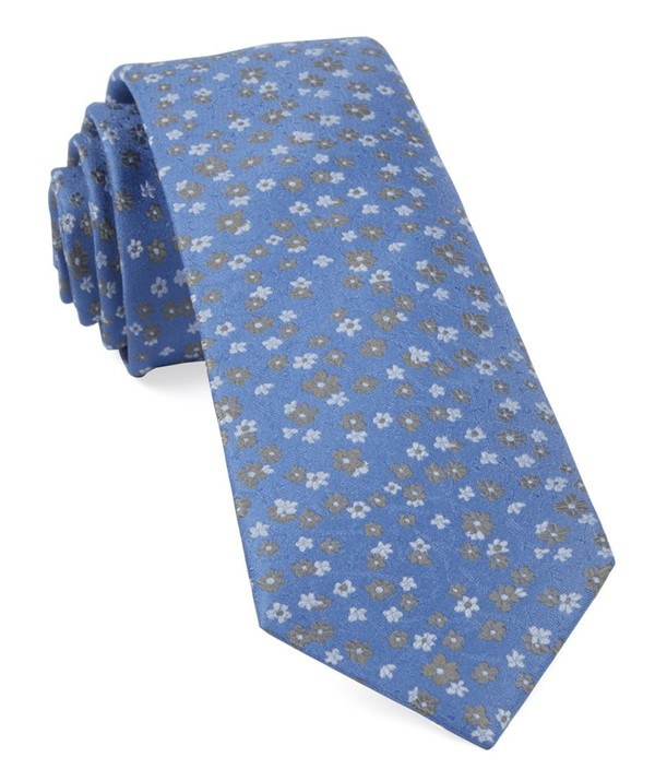 Free Fall Floral Light Blue Tie