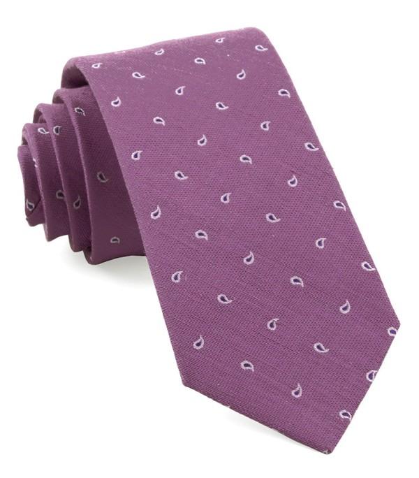 Budding Paisley Wisteria Tie