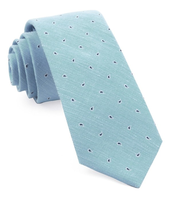 Budding Paisley Light Blue Tie