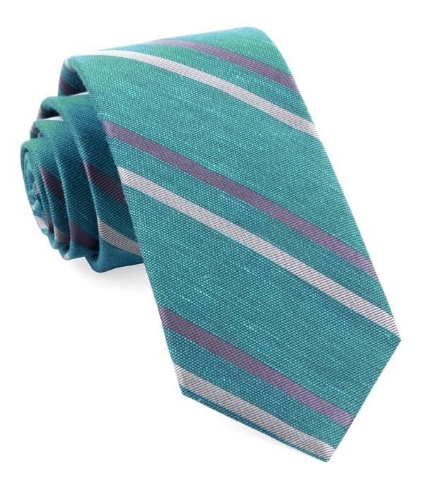 Pep Stripe Aqua Tie