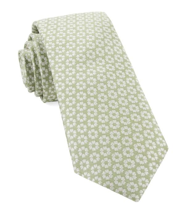 First Look Floral Sage Green Tie