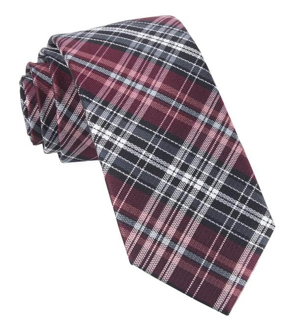 Motley Plaid Burgundy Tie