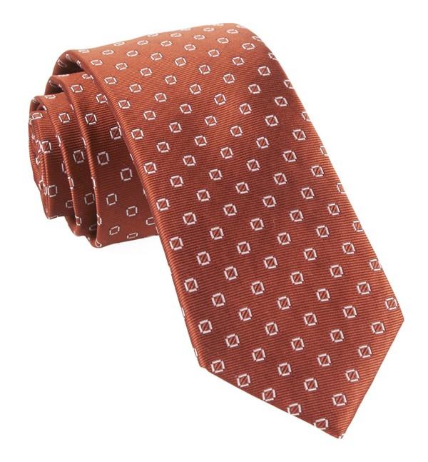 Junction Geos Burnt Orange Tie