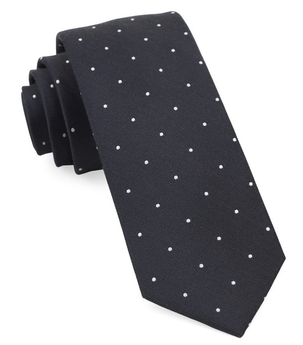 Dotted Report Charcoal Tie