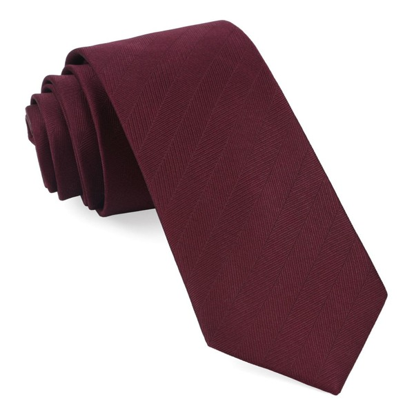 Herringbone Vow Wine Tie
